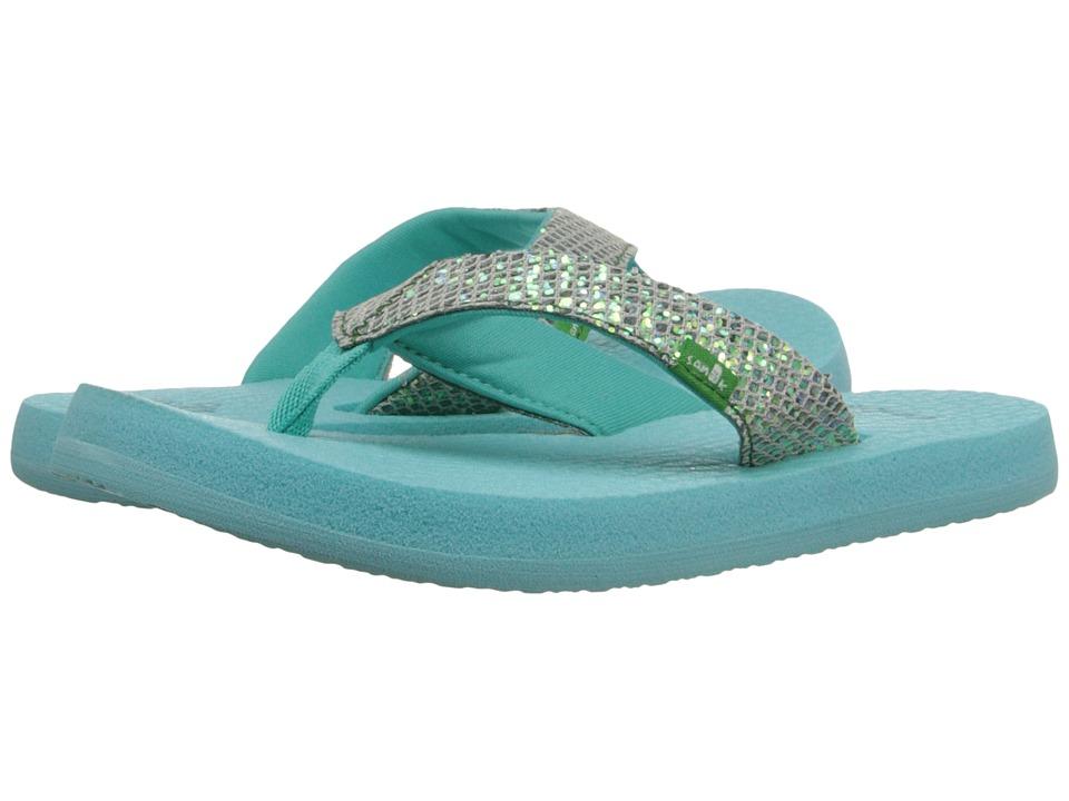 Sanuk Kids Yoga Glitter (Little Kid/Big Kid) (Turquoise/Light Turquoise) Girls Shoes