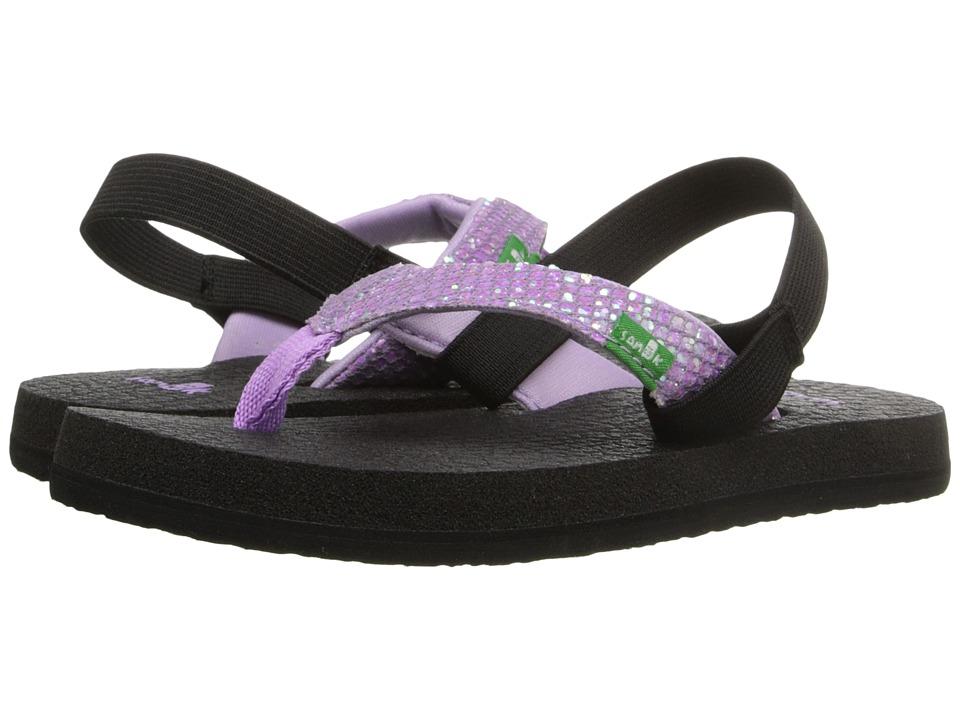 Sanuk Kids Yoga Glitter (Toddler/Little Kid) (Hot Orchid) Girls Shoes