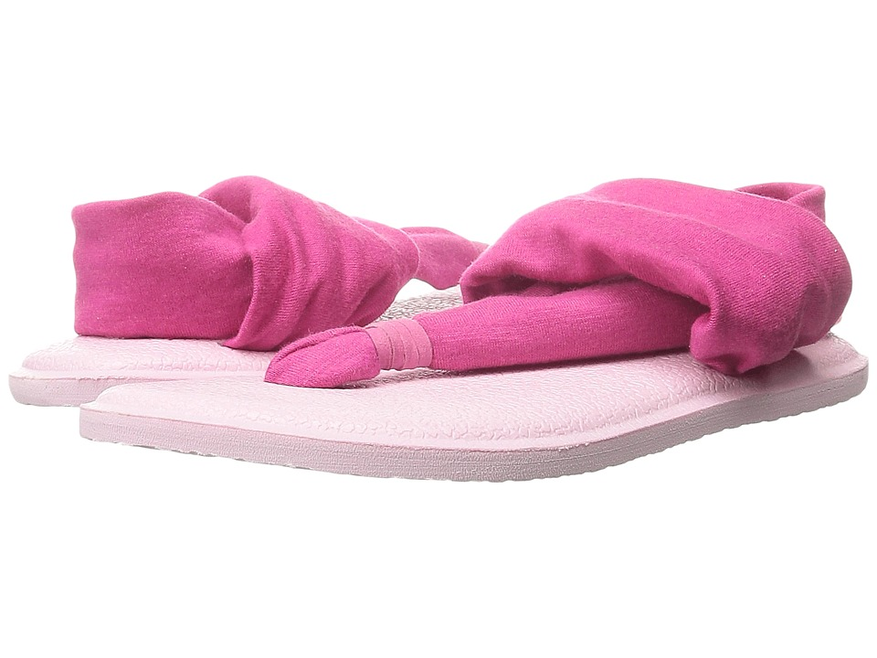 Sanuk Kids Yoga Sling Burst (Toddler/Little Kid) (Fuchsia/Light Pink) Girls Shoes