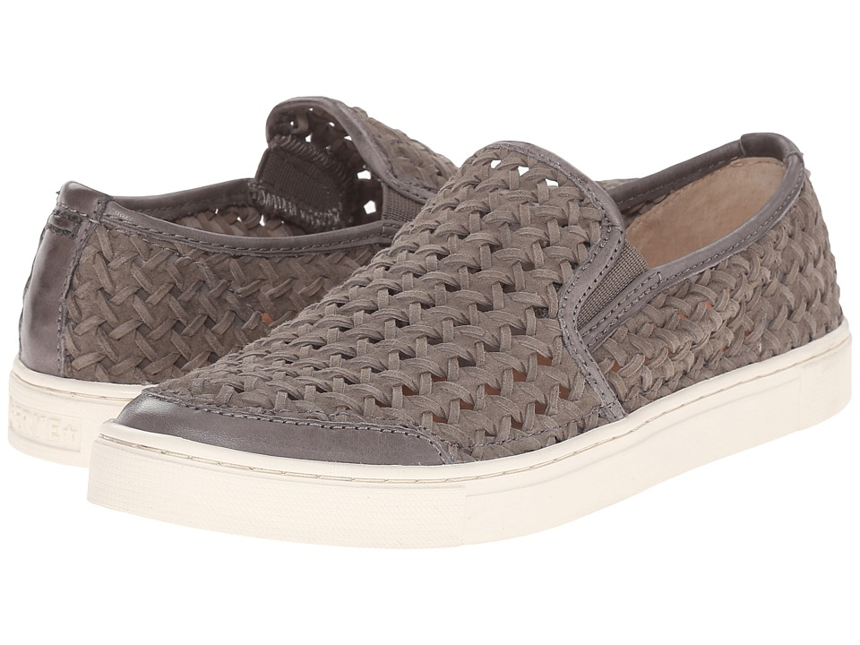 Frye Gemma Slip Woven Charcoal Woven Suede Womens Slip on Shoes