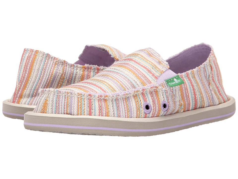 Sanuk Kids Donna Little Kid/Big Kid Purple/Orange Stripe Girls Shoes