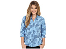 Expedition Stretch 3/4 Sleeve Print Top