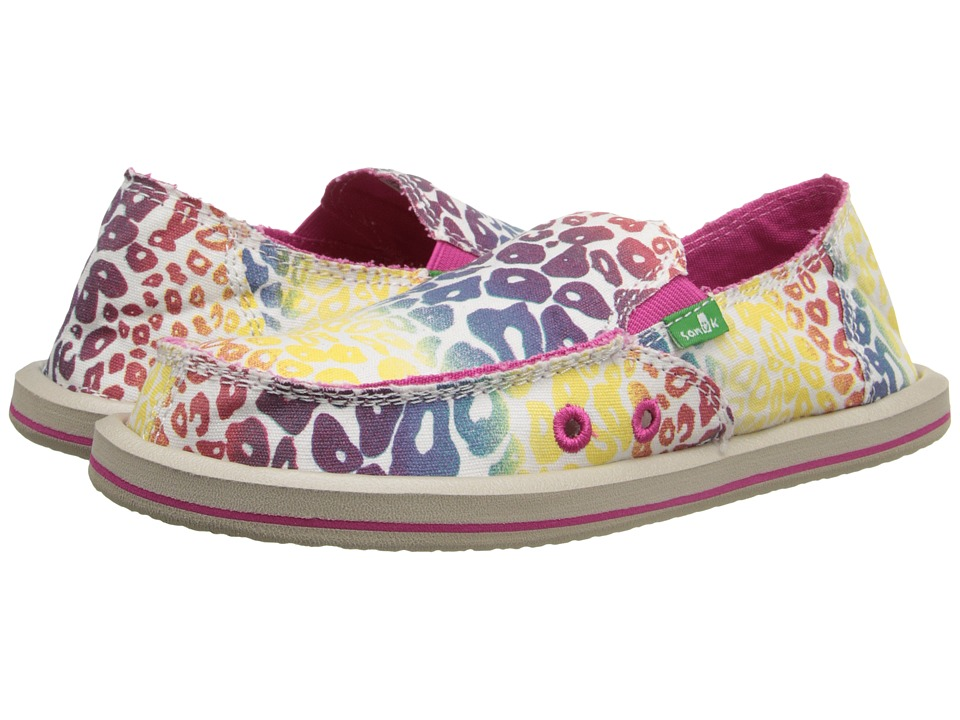 Sanuk Kids Im Game Little Kid/Big Kid Natural/Rainbow Cheetah Girls Shoes