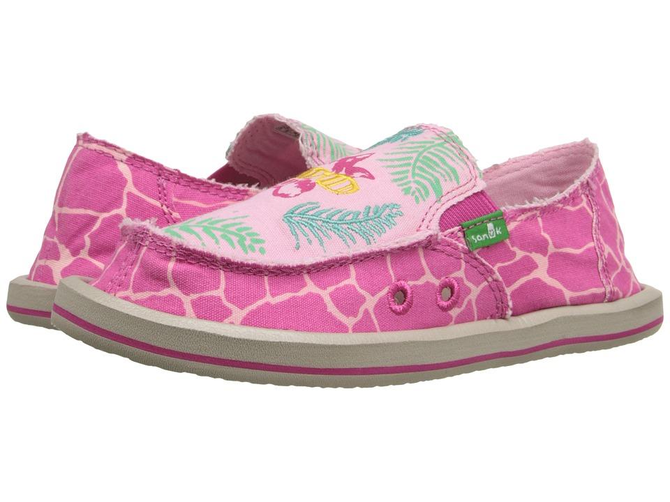 Sanuk Kids Scribble II Little Kid/Big Kid Giraffe Palm Girls Shoes