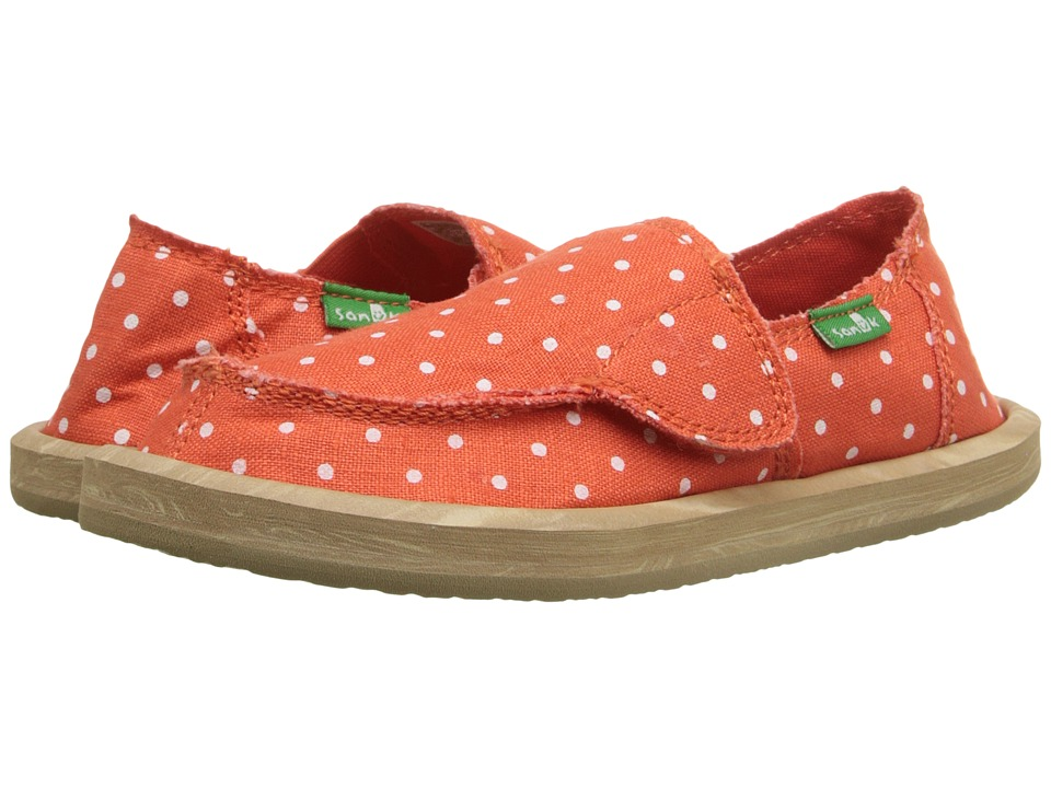 Sanuk Kids Hot Dotty Toddler/Little Kid Flame/Natural Dots Girls Shoes