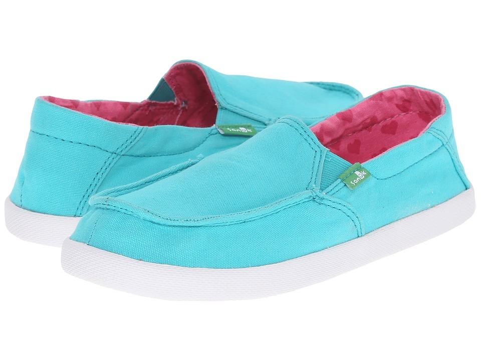 Sanuk Kids Sideskip Little Kid/Big Kid Turquoise Girls Shoes