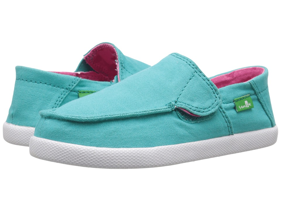 Sanuk Kids Sideskip Toddler/Little Kid Turquoise Girls Shoes