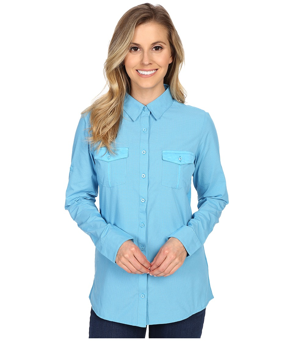 Kuhl Airkraft Long Sleeve Shirt Skylight Womens Long Sleeve Button Up