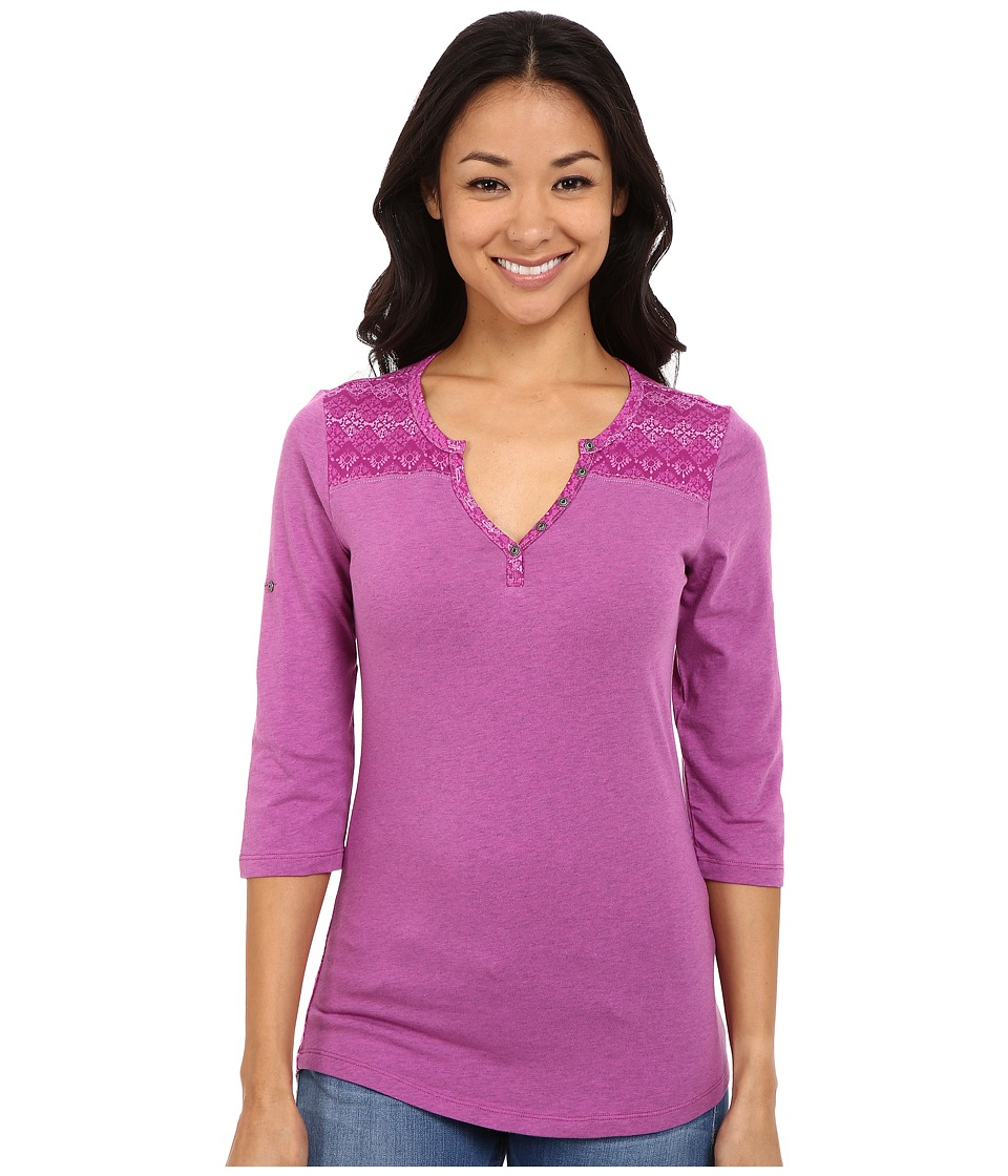 Kuhl Belmont 3/4 Sleeve Top Wild Rose Womens Short Sleeve Pullover