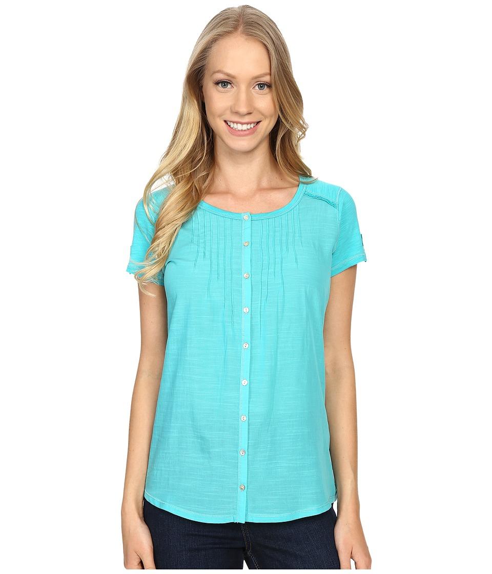 Kuhl Geneva Short Sleeve Shirt Mountain Jade Womens Short Sleeve Pullover