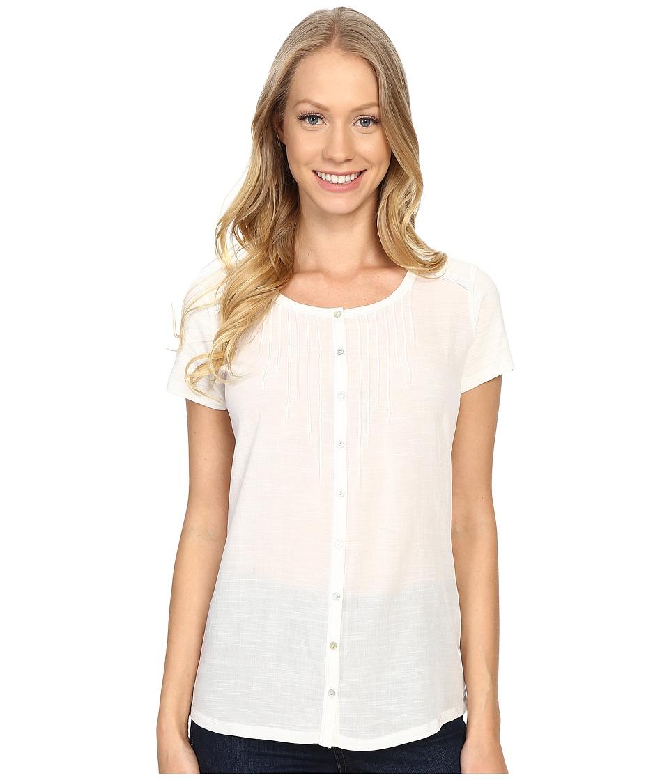 Kuhl Geneva Short Sleeve Shirt White Womens Short Sleeve Pullover