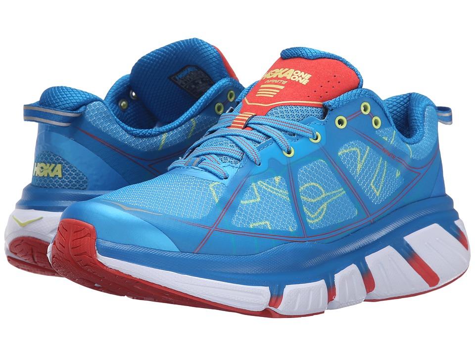 Hoka One One - Infinite (Dresden Blue/Poppy Red) Womens Running Shoes