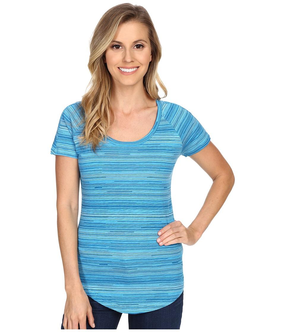 Kuhl Bella Scoop Swiss Blue Stripe Womens Short Sleeve Pullover
