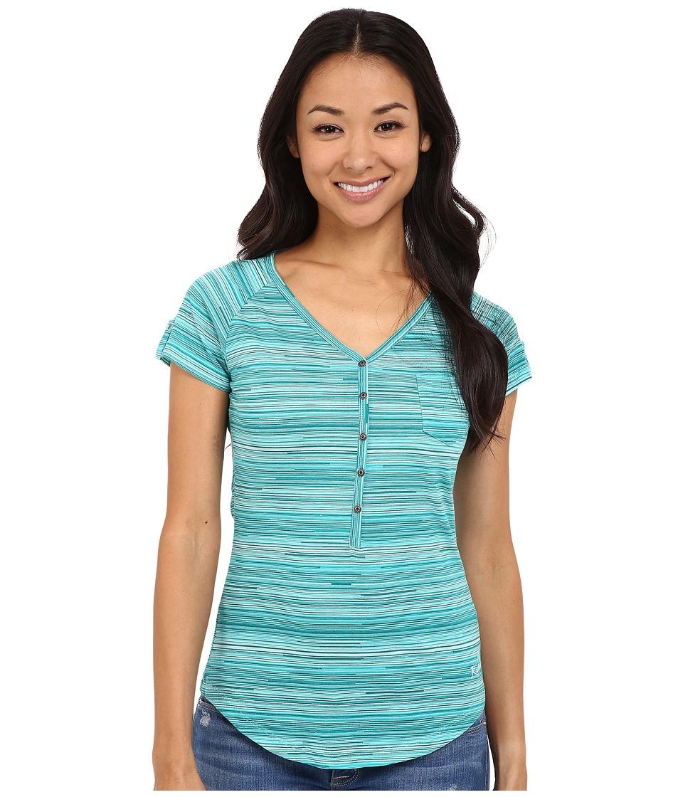 Kuhl Bella S/S Top Mountain Jade Stripe Womens Short Sleeve Pullover