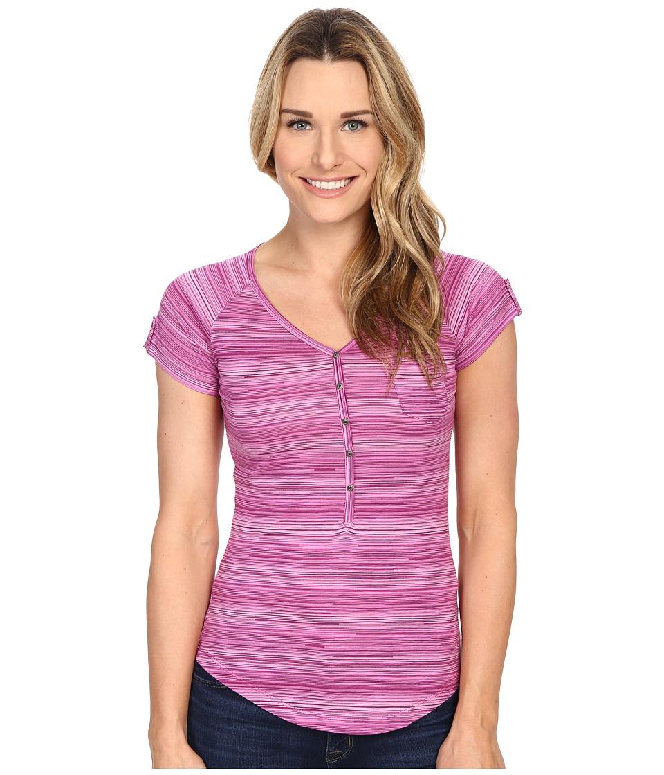 Kuhl Bella S/S Top Wild Rose Stripe Womens Short Sleeve Pullover