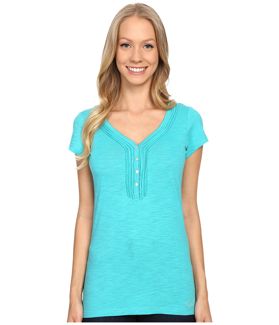 Kuhl Vega Henley Mountain Jade Womens Short Sleeve Pullover