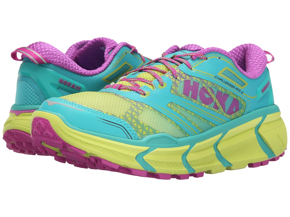 Hoka One One Challenger ATR 2 Aqua/Fuchsia Womens Running Shoes