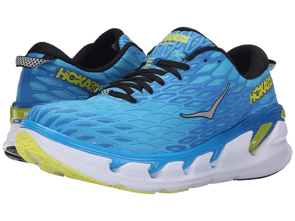 Hoka One One Vanquish 2 Cyan/Citrus Mens Running Shoes