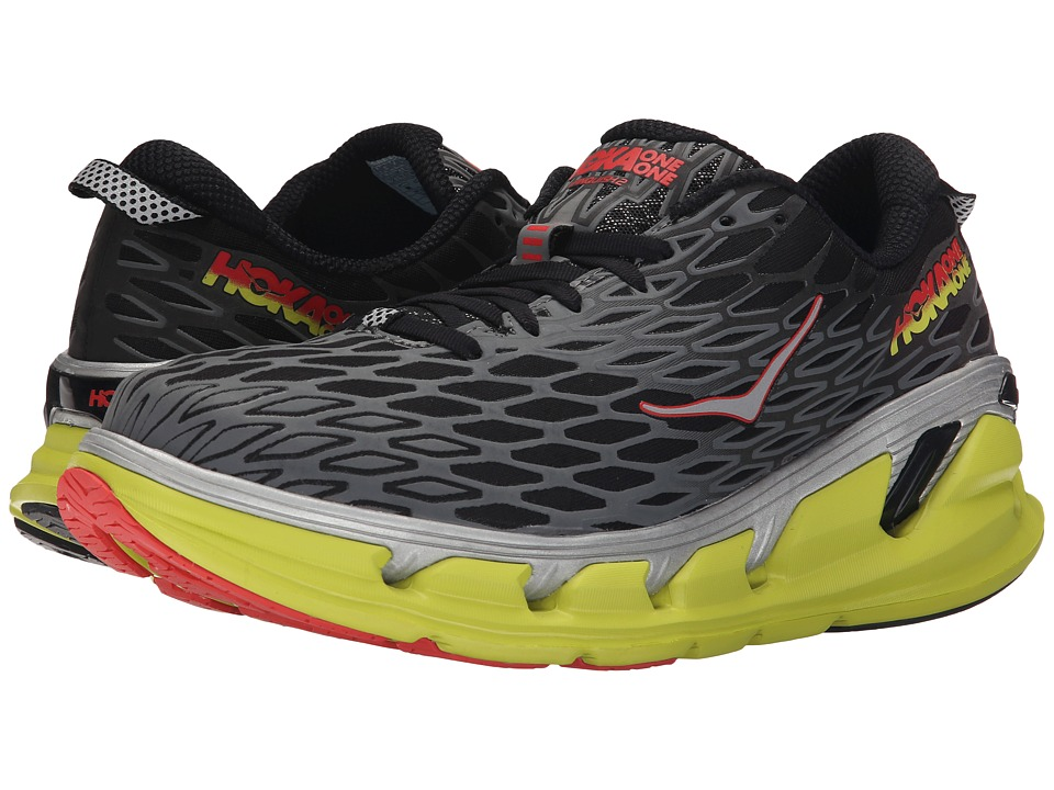 Hoka One One - Vanquish 2 (Black/Acid) Mens Running Shoes