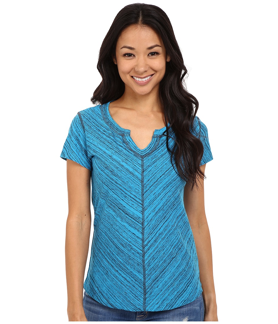 Kuhl Alisse Top Swiss Blue Womens Short Sleeve Pullover