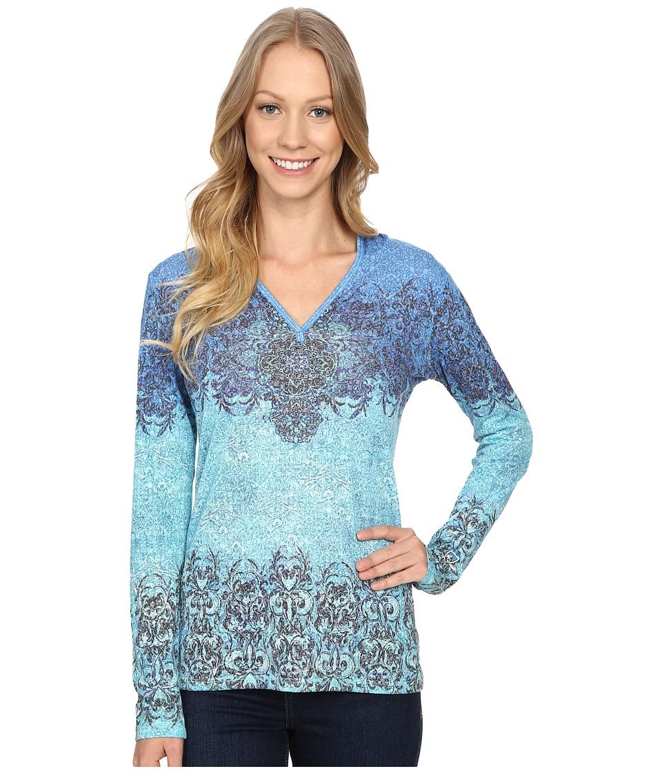 Kuhl Basel Hoodie Swiss Blue Womens Long Sleeve Pullover
