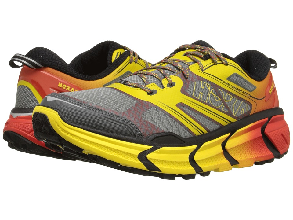 Hoka One One Challenger ATR 2 Grey/Empire Yellow Mens Running Shoes