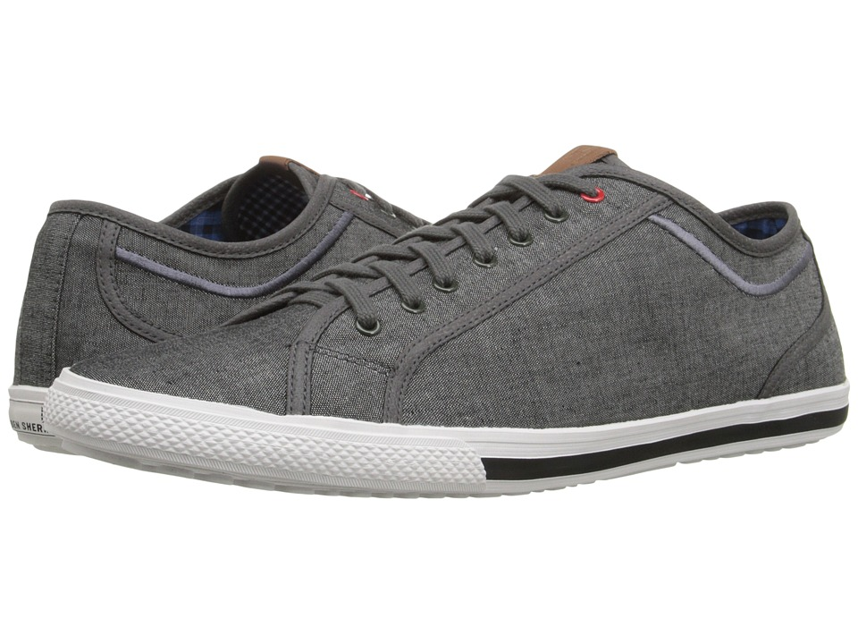 Ben Sherman Chandler Lo Grey Chambray Mens Lace up casual Shoes