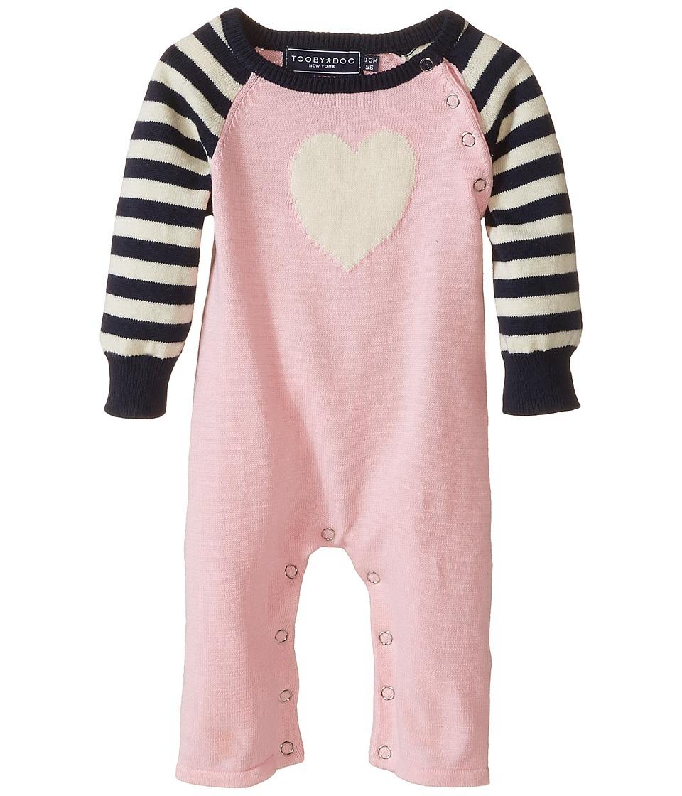 Toobydoo Sweet Heart Jumpsuit Infant Pink/White/Navy Girls Jumpsuit Rompers One Piece