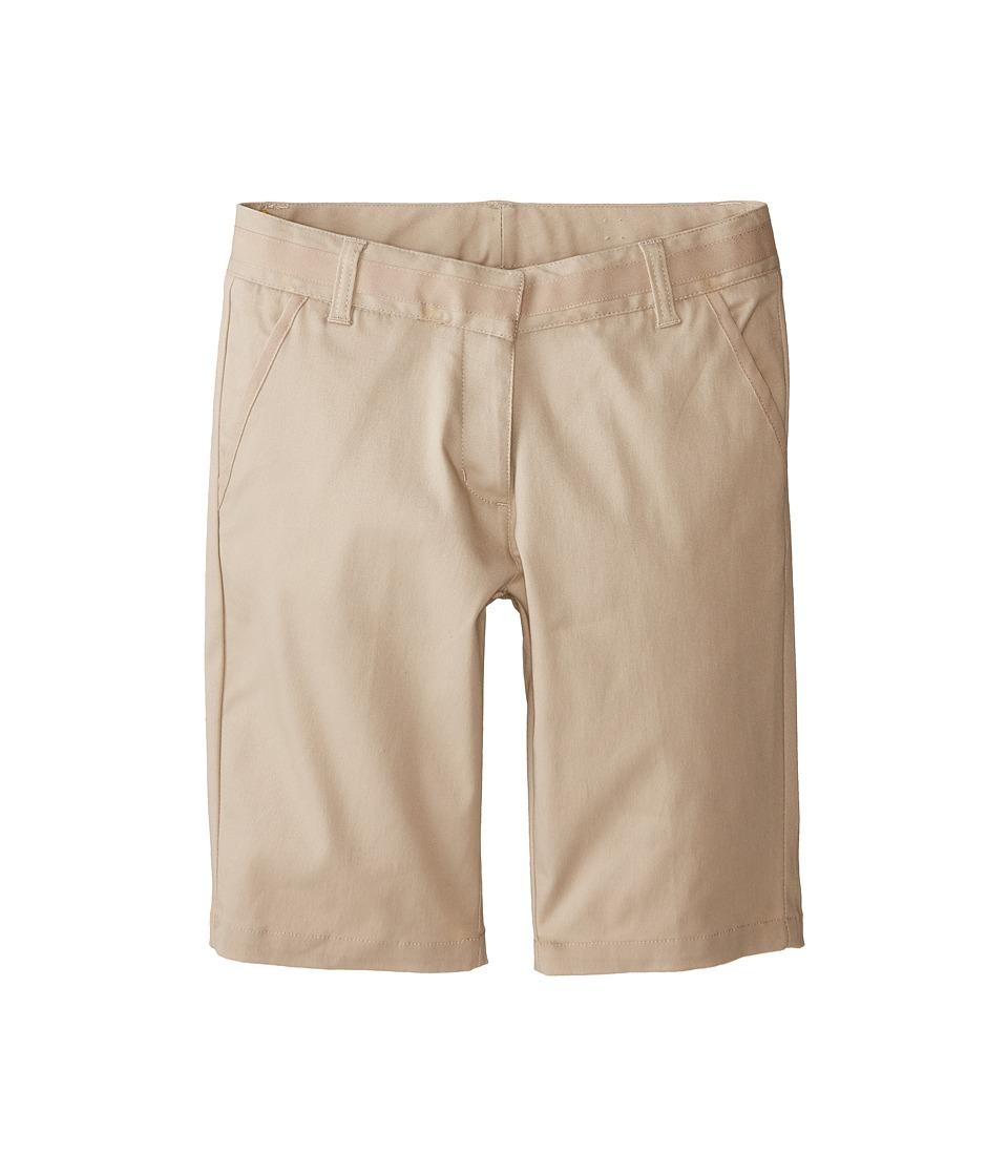 Nautica Kids Skinny Bermuda Shorts with Adjustable Waistband Big Kids Su Khaki Girls Shorts