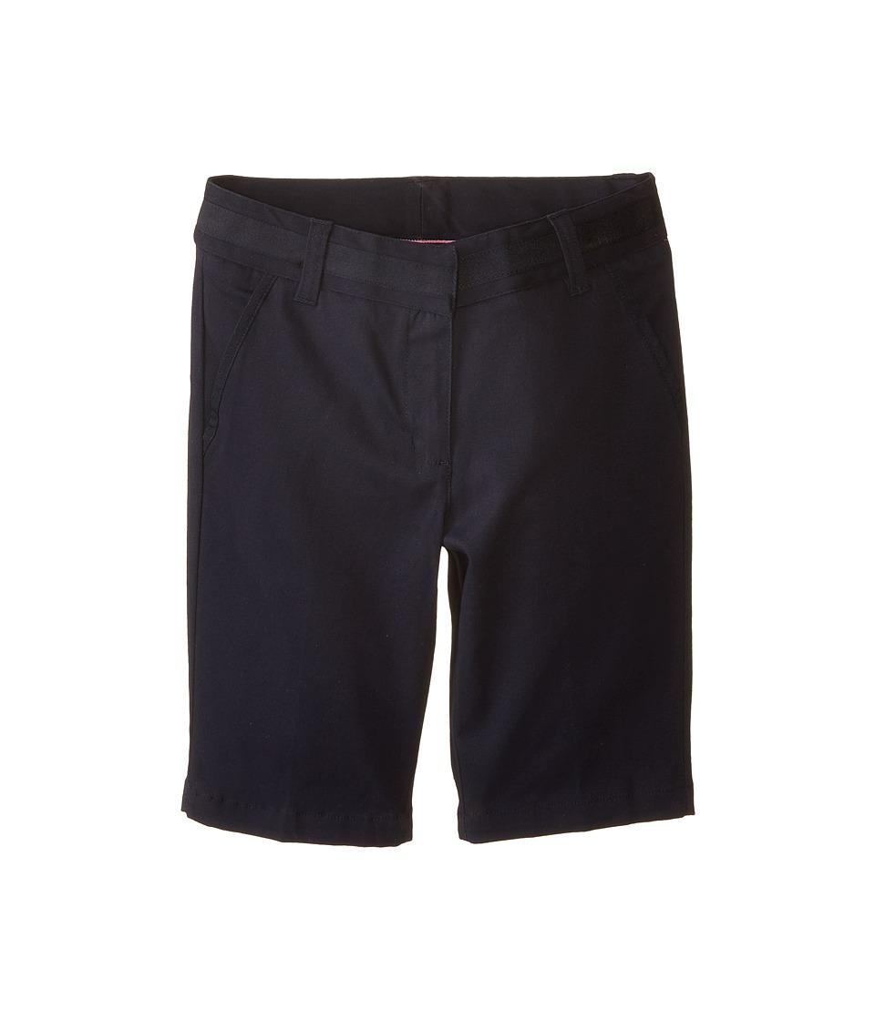 Nautica Kids Skinny Bermuda Shorts with Adjustable Waistband Big Kids Su Navy Girls Shorts