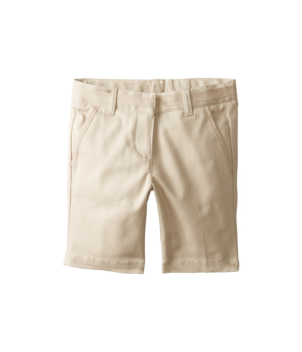 Nautica Kids Skinny Bermuda Shorts with Adjustable Waistband Su Khaki Girls Shorts