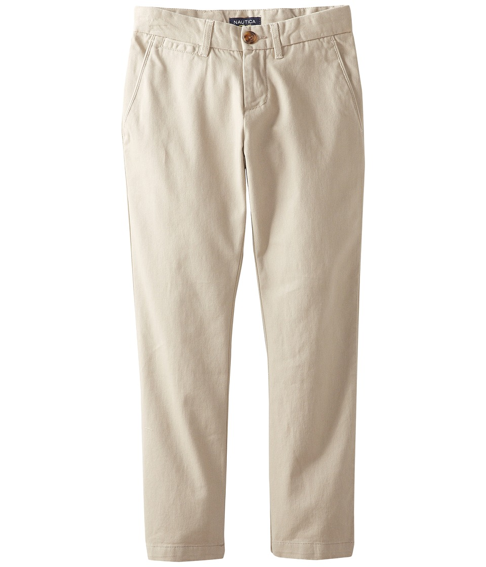 Nautica Kids - Flat Front Pants (Little Kids) (Khaki) Boys Casual Pants