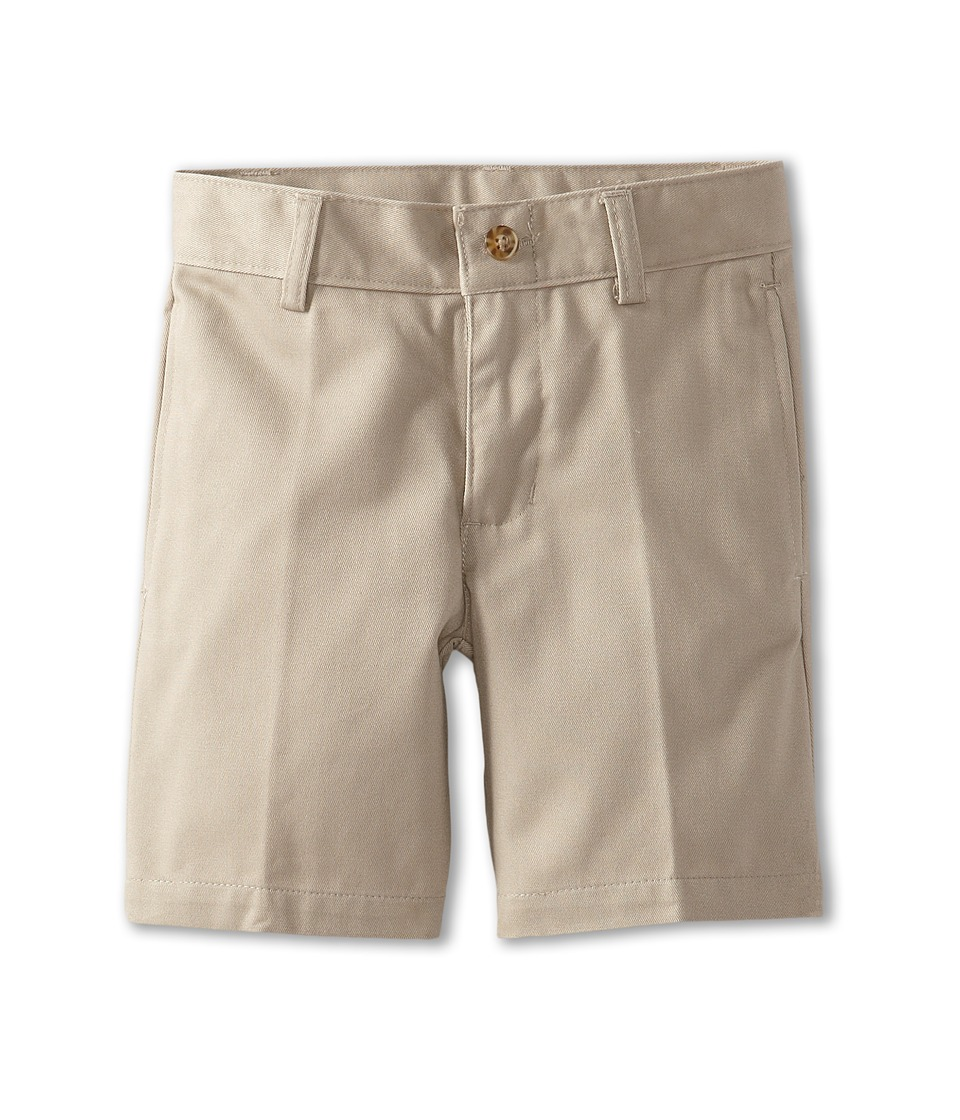 Nautica Kids Flat Front Twill Shorts Little Kids Khaki Boys Shorts