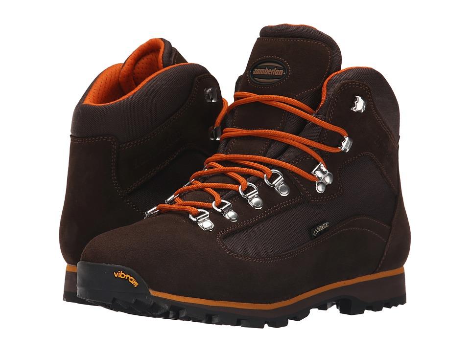 Zamberlan Trailblazer GTX Brown/Orange Mens Shoes