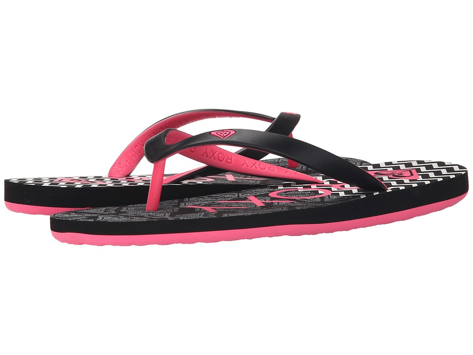 Roxy Tahiti Black/Pink Womens Sandals