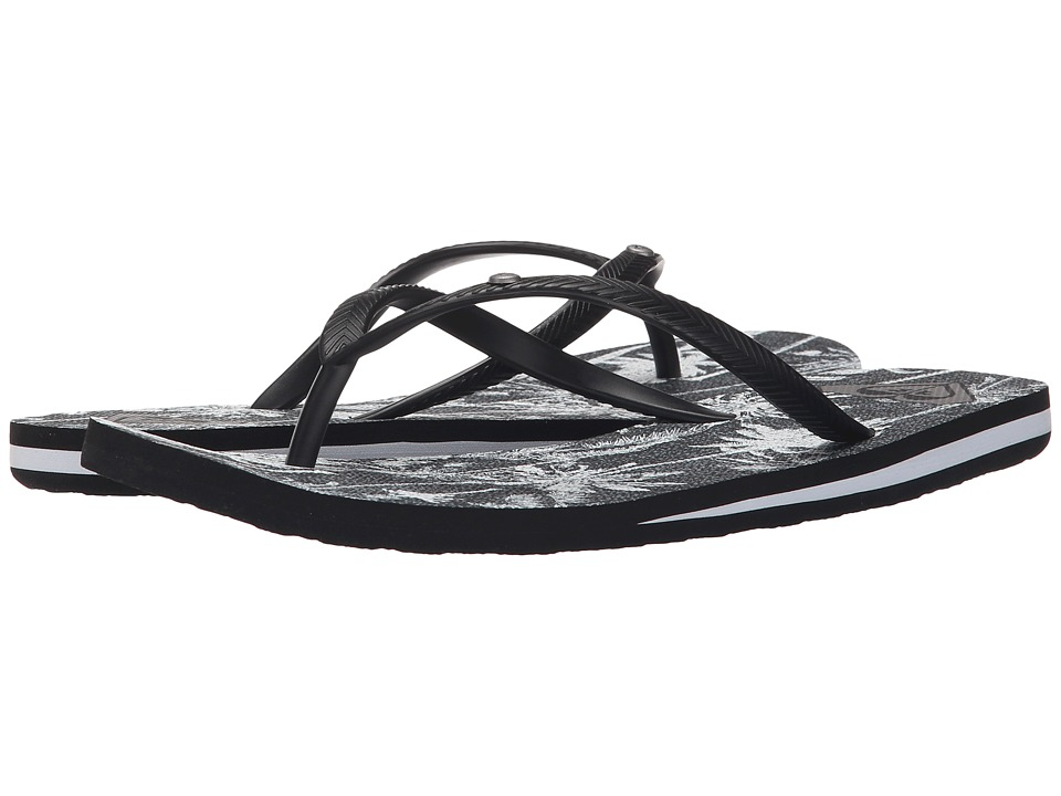 Roxy Bermuda Black/White Print Womens Sandals
