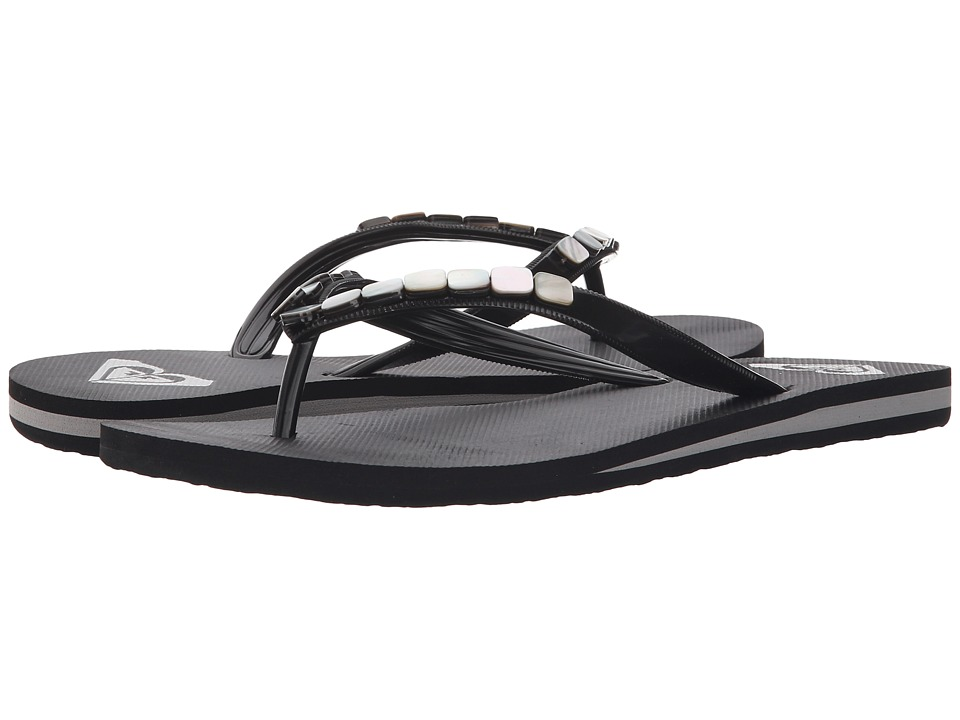 Roxy Bermuda Shells Black Womens Sandals