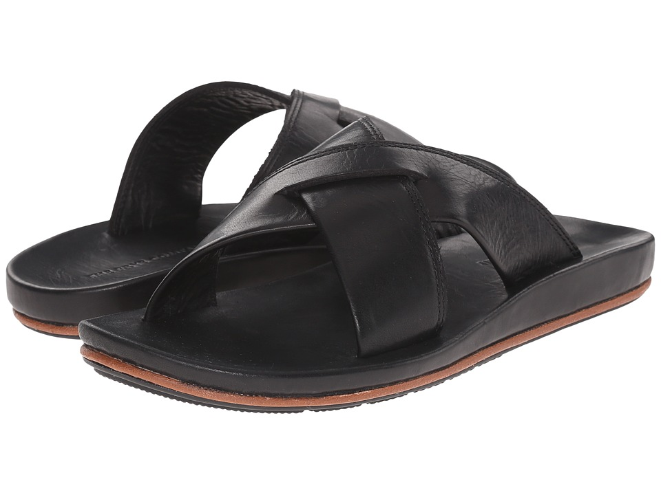 Frye - Brent Cross Strap (Black) Men's Sandals