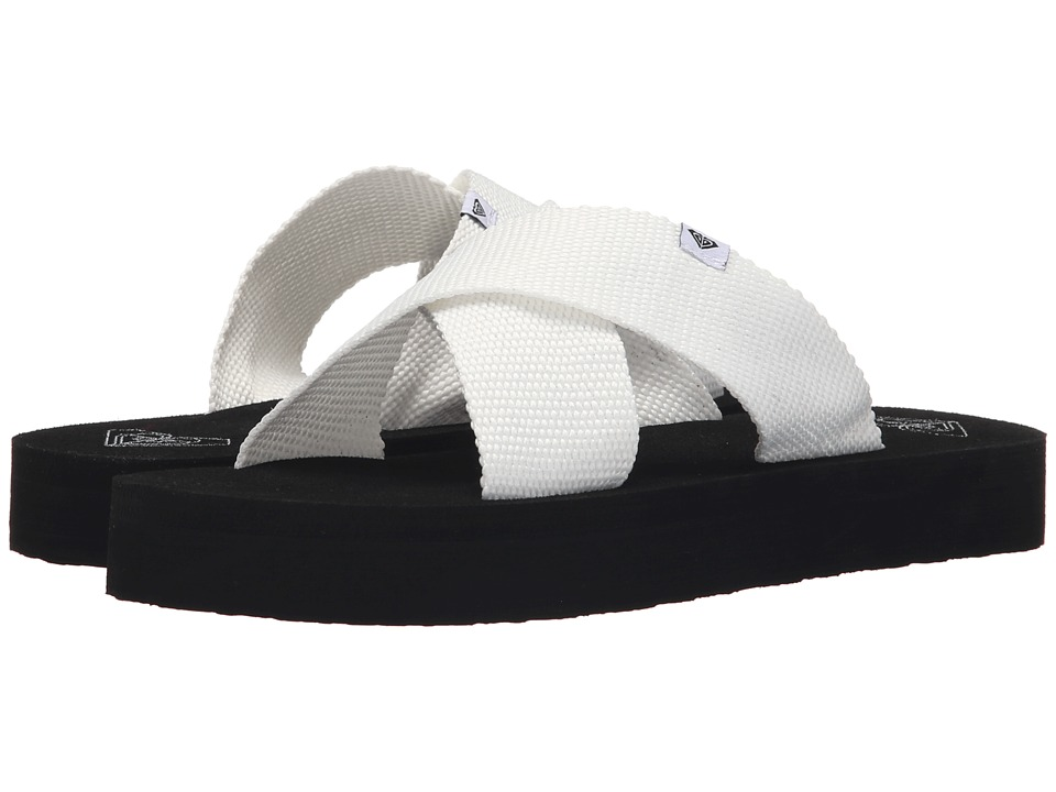 Roxy Cayman White Womens Sandals