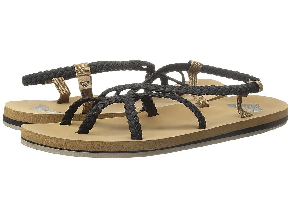 Roxy Gillis Black Womens Sandals