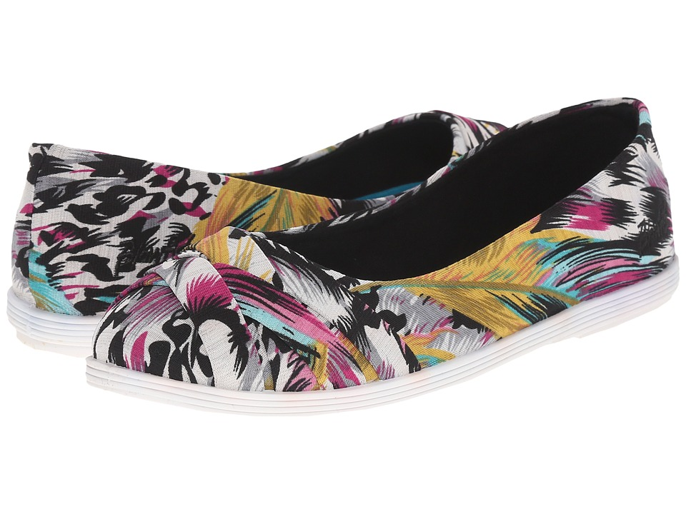 Blowfish Glo Black Bali Print Womens Flat Shoes