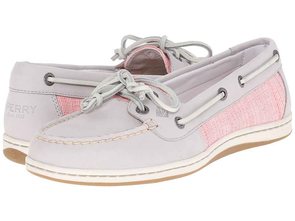 Sperry Top-Sider - Firefish Cross Hatch Canvas (Light Grey/Coral Multi) Women