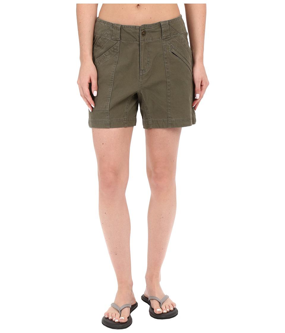 Royal Robbins Backcountry Billy Goat Canvas Shorts Light Olive Womens Shorts
