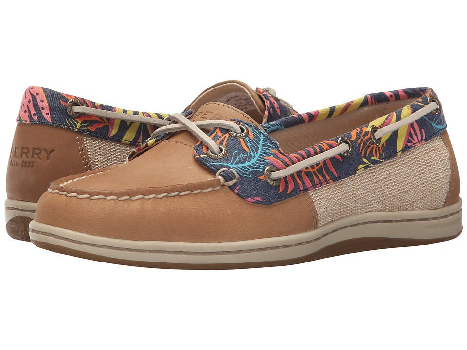 Sperry Top Sider Firefish Seaweed Print Linen Womens Lace up casual Shoes
