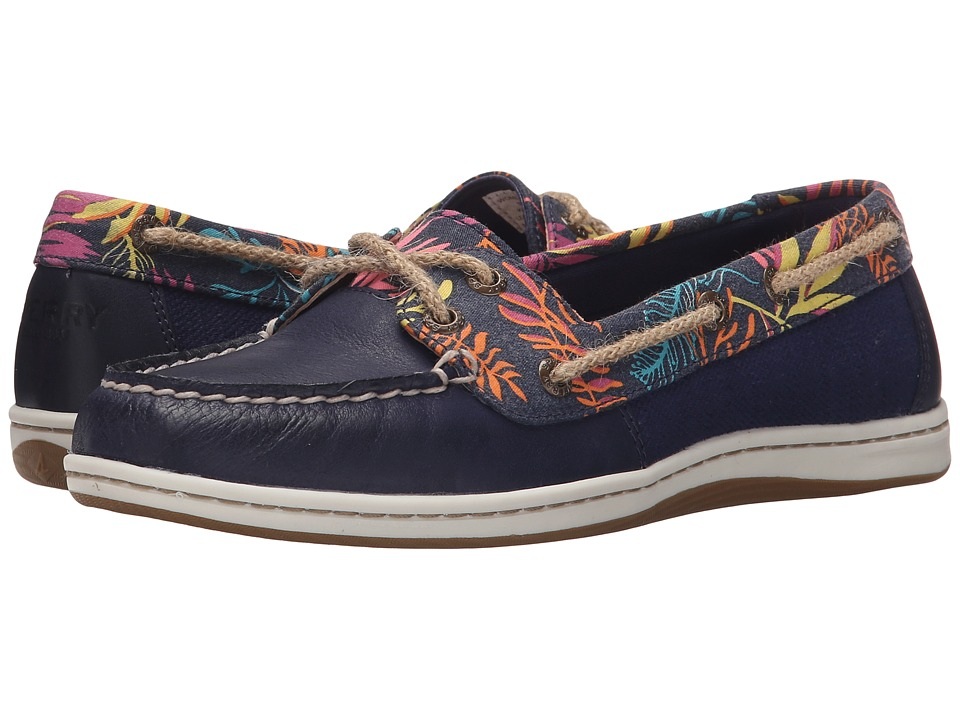Sperry Top Sider Firefish Seaweed Print Navy/Pink Multi Womens Lace up casual Shoes