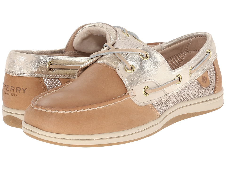Sperry Top Sider Koifish Metallic Mesh Linen/Platinum Womens Lace up casual Shoes