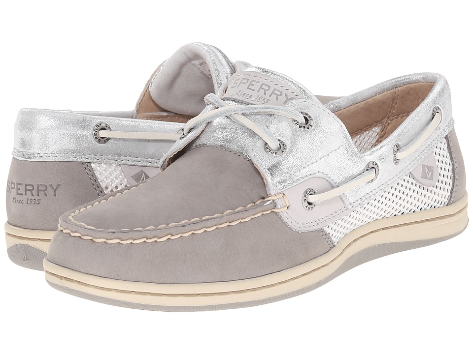 Sperry Top Sider Koifish Metallic Mesh Grey/Silver Womens Lace up casual Shoes
