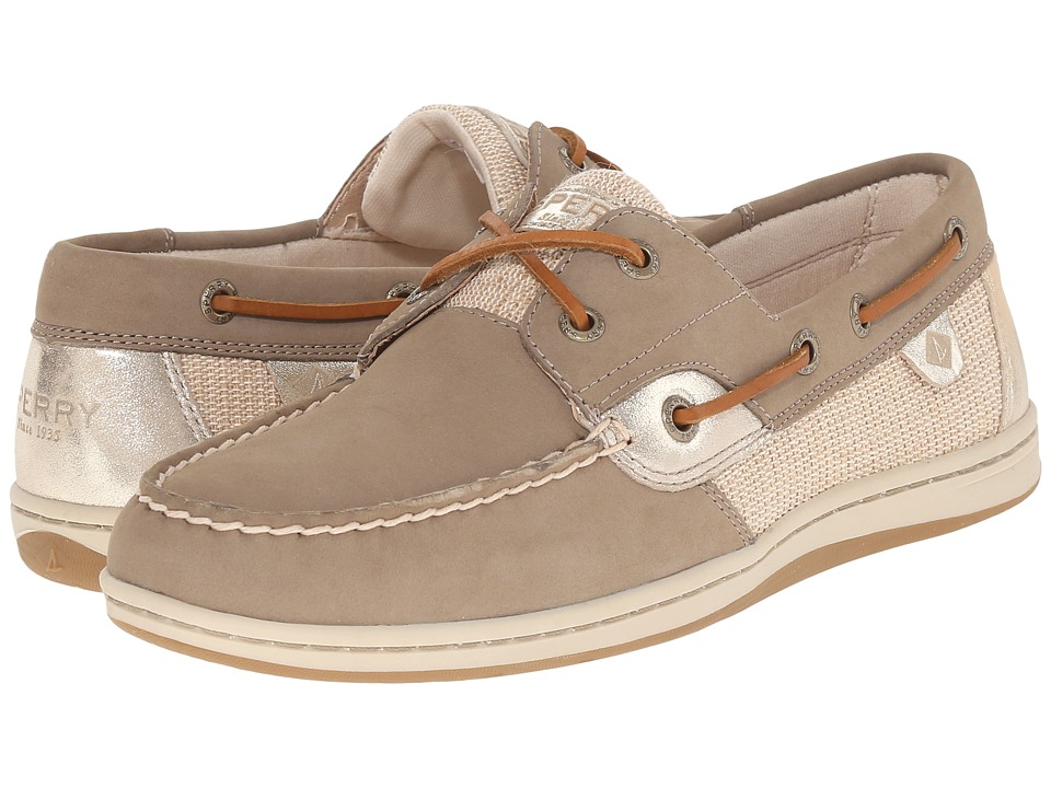 Sperry Top Sider Koifish Metallic Taupe Womens Lace up casual Shoes