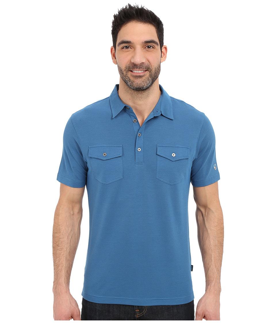 Kuhl Icelandr S/S Shirt Lake Blue Mens Short Sleeve Pullover
