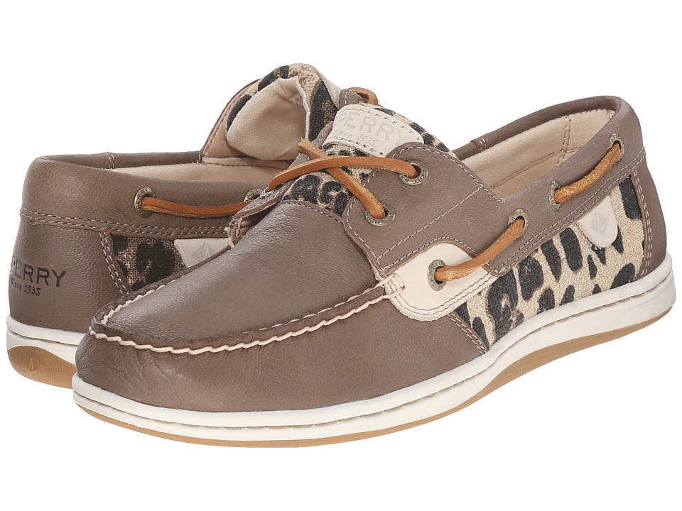 Sperry Top Sider Koifish Animal Taupe Leopard Womens Lace up casual Shoes